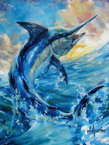 Freshwater Wall Art - Painting - Good Morning by Tom Dauria