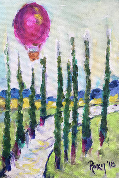 Wine Painting - Good Morning Wine Country by Roxy Rich