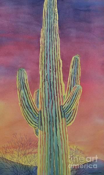 Cactus Wren Wall Art - Painting - Good Night Cactus Wren by Sandra Neumann Wilderman