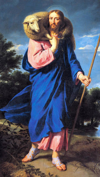 Lamb Of God Wall Art - Painting - Good Shepherd by Philippe de Champaigne