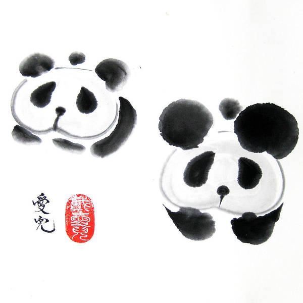 Chinese Brush Painting - Good Things Come In Pairs by Oiyee At Oystudio