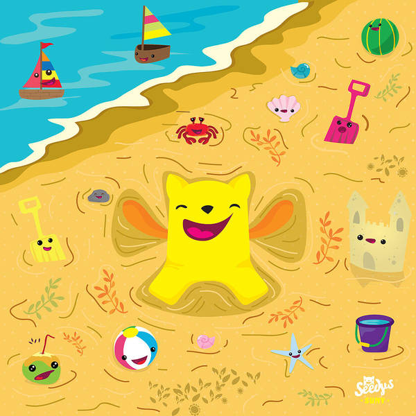 Child Digital Art - Good Vibes At The Beach by Seedys
