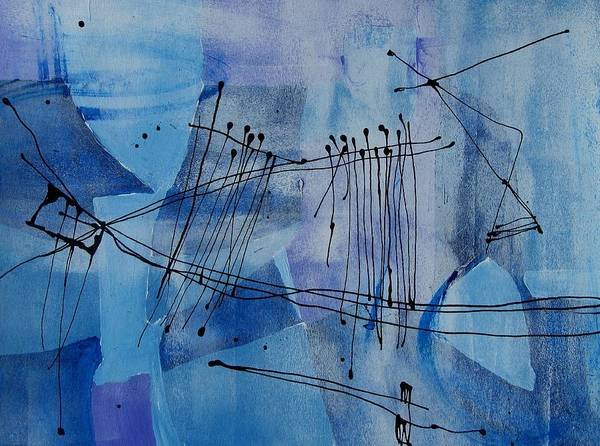 Musical Theme Painting - Good Vibrations Two by Louise Adams