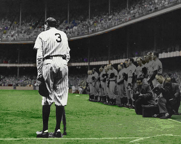 Painting - Goodbye Babe Ruth Farewell Horizontal by Tony Rubino
