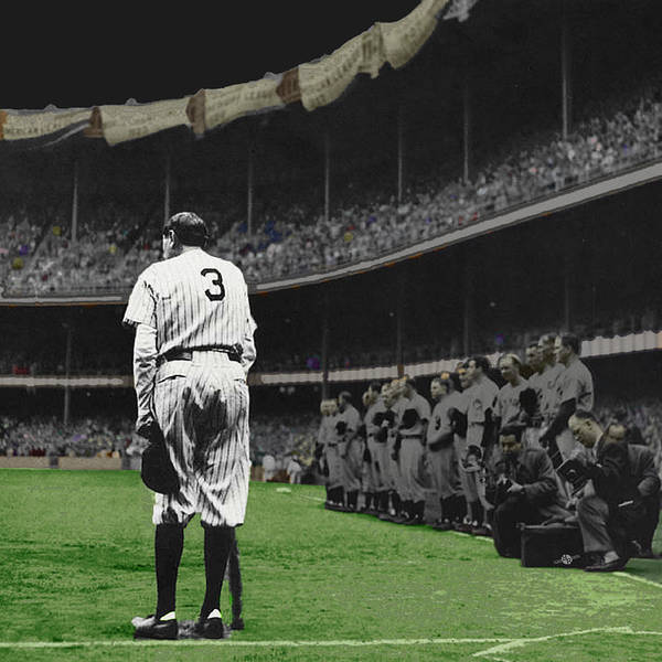 Baseball Hall Of Fame Photograph - Goodbye Babe Ruth Farewell by Tony Rubino