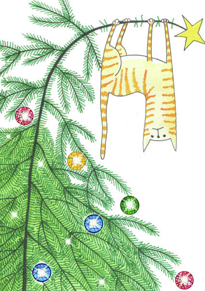 Holiday Drawing - Goodbye, Christmas Tree  by Andrew Hitchen