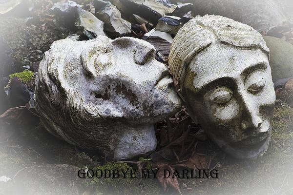 Goodbye My Darling Text Art Print