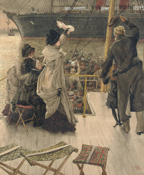 Painting - Goodbye On The Mersey by James Jacques Joseph Tissot
