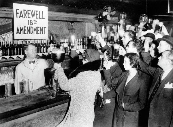 Flapper Photograph - Goodbye Prohibition Toast 1933 by Daniel Hagerman