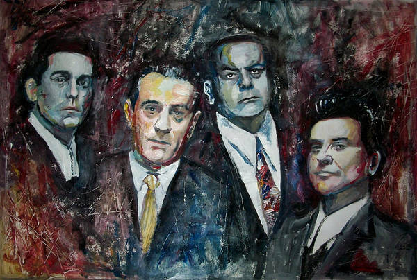 Robert De Niro Wall Art - Painting - Goodfellas by Marcelo Neira