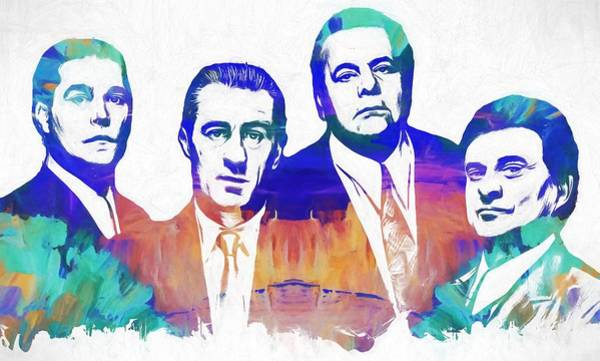 Robert De Niro Wall Art - Painting - Goodfellas Watercolor by Dan Sproul