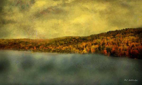 Painting - Goodnight In Blue And Gold by RC DeWinter