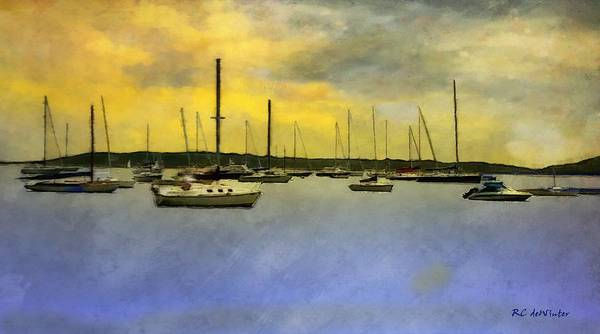Painting - Goodnight, Nantucket by RC DeWinter