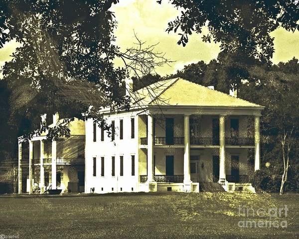 Goodwood Plantation Baton Rouge Circa 1852 Art Print