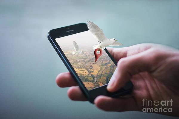 Photograph - Google Map by Sajid Ch