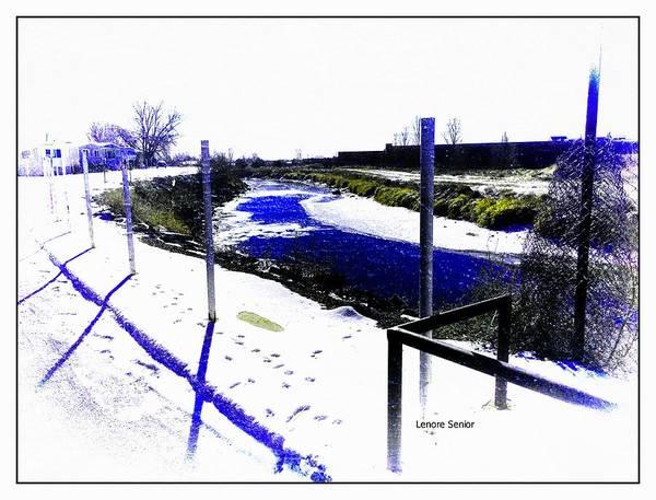 Fence Post Digital Art - Goose Tracks by Lenore Senior