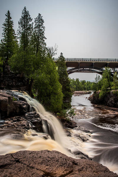 Wall Art - Photograph - Gooseberry Falls Bridge In Color by Paul Freidlund