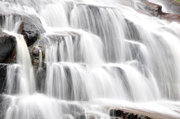 Wall Art - Photograph - Gooseberry Falls Flowing by John Ricker