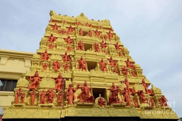Photograph - Gopuram Pagoda Of Sri Senpaga Vinayagar Tamil Hindu Temple Ceylon Rd Singapore by Imran Ahmed