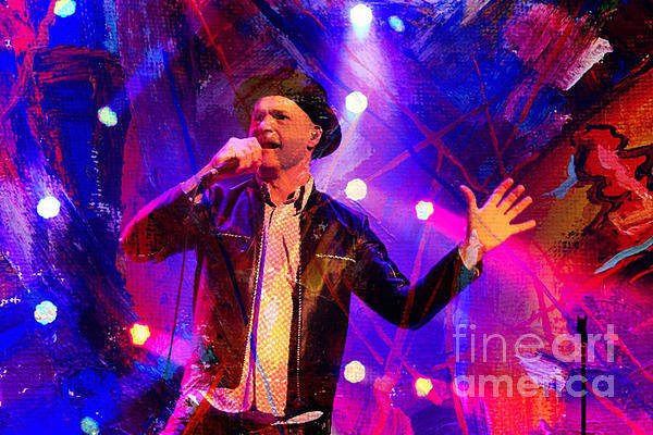Frontman Wall Art - Painting - Gord Downie Tragically Hip Frontman by Pd