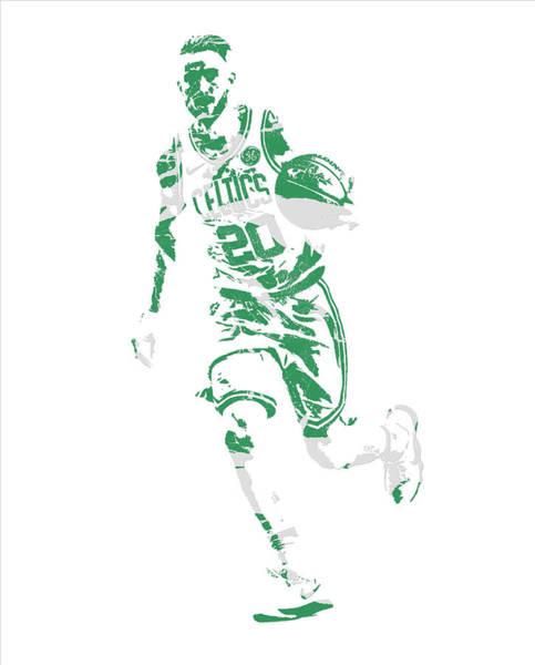 Wall Art - Mixed Media - Gordon Hayward Boston Celtics Pixel Art 10 by Joe Hamilton