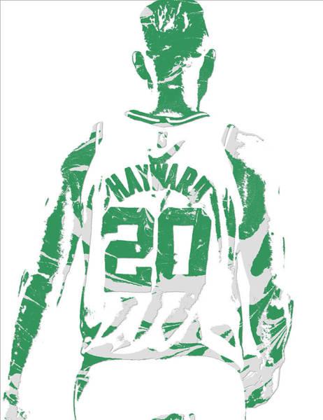 Celtic Mixed Media - Gordon Hayward Boston Celtics Pixel Art T Shirt 5 by Joe Hamilton