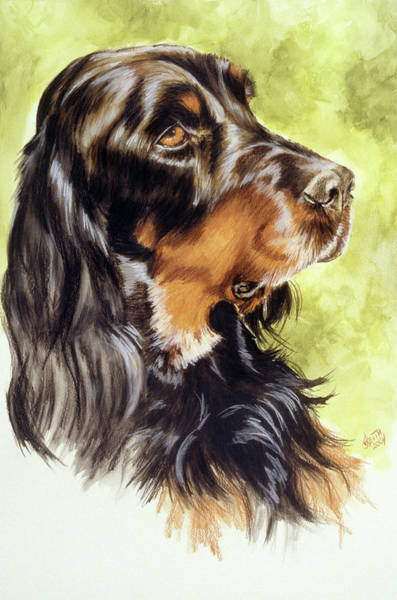 Painting - Gordon Setter In Watercolor by Barbara Keith