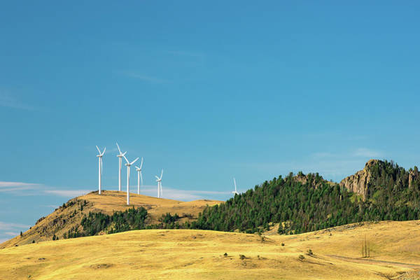 Wind Farm Photograph - Gordons Butte Turbines by Todd Klassy