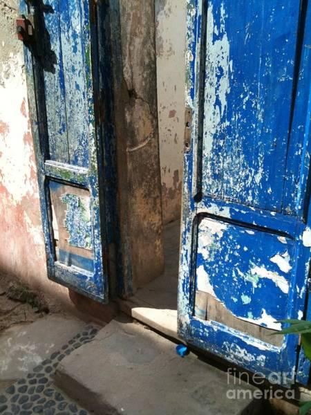 Dakar Photograph - Goree Door Texture by Fania Simon