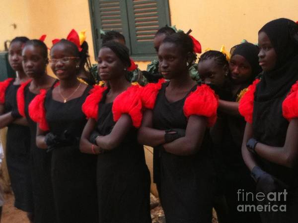 Dakar Photograph - Goree Girls by Fania Simon