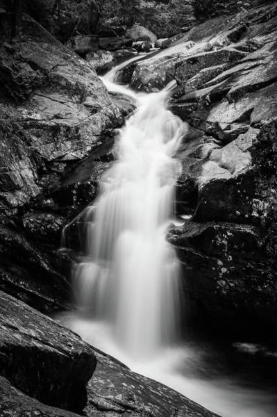 Photograph - Gorge Waterfall In Black And White by Darryl Hendricks