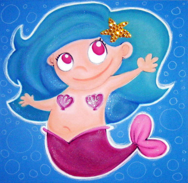 Morea Wall Art - Painting - gORGEOUS mERMAiD by Mara Morea