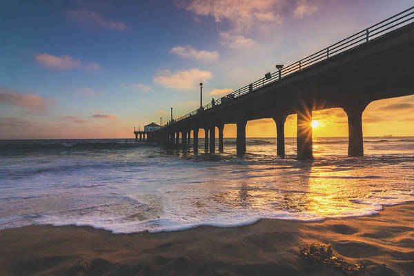 Photograph - Gorgeous Sunset At Manhattan Beach Pier by Andy Konieczny