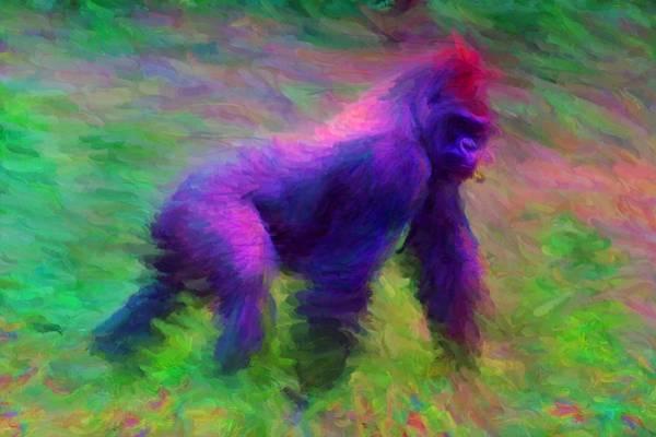Digital Art - Gorilla by Caito Junqueira