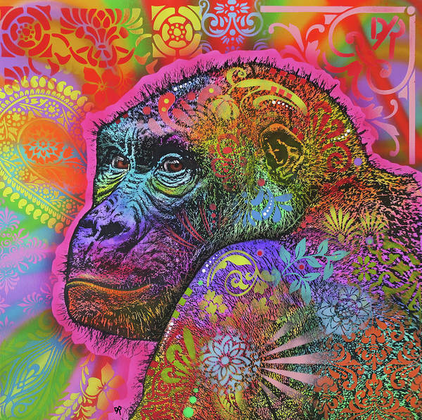 Painting - Gorilla by Dean Russo Art