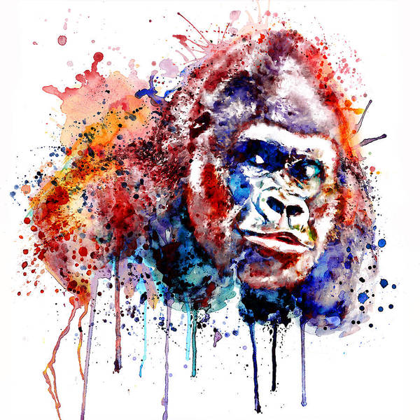Zoology Painting - Gorilla by Marian Voicu