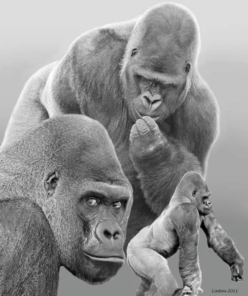 Gorilla Montage Art Print