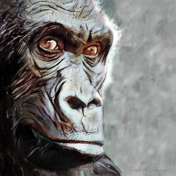 Digital Art - Gorilla by Pennie McCracken
