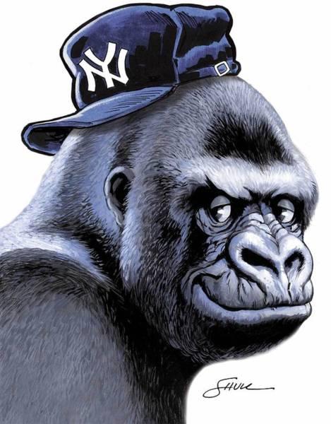 Gorilla Painting - Gorilla Racks by Harold Shull