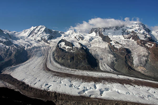 Photograph - Gornergletscher, Liskamm And Breithorn by Aivar Mikko
