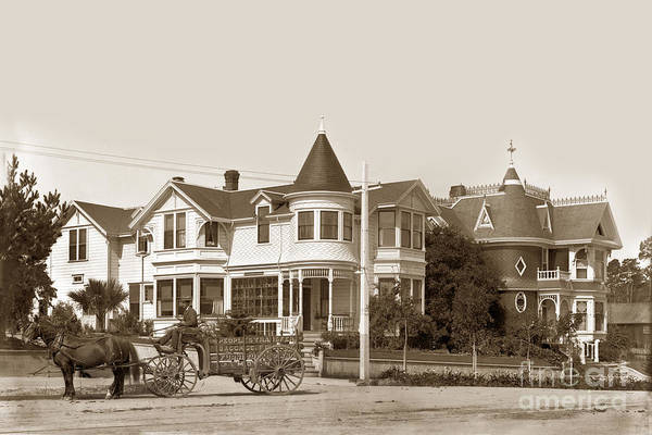 Photograph - Gosby And Hart Homes On Lighthouse Ave. by California Views Archives Mr Pat Hathaway Archives