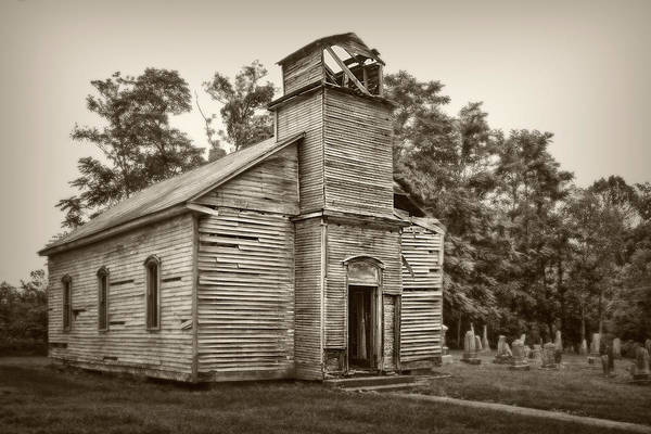 Graveyard Wall Art - Photograph - Gospel Center Church Iv by Tom Mc Nemar