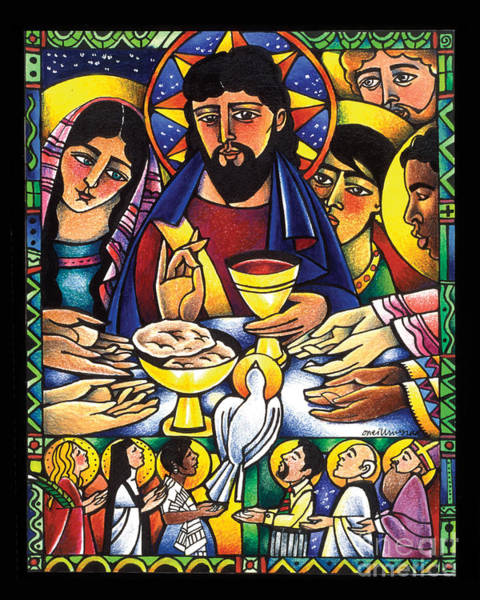 Painting - Gospel Feast - Mmgof by Br Mickey McGrath OSFS
