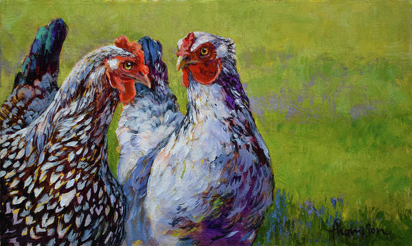 Lace Painting - Gossip Hour by Tracie Thompson
