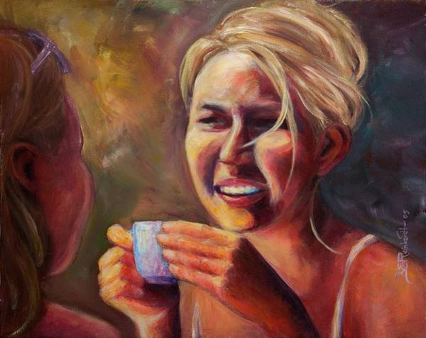 Painting - Gossip by Jason Reinhardt