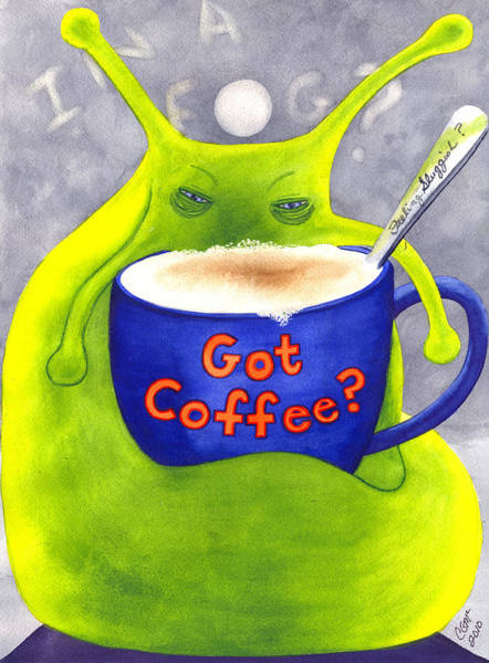 Painting - Got Coffee by Catherine G McElroy