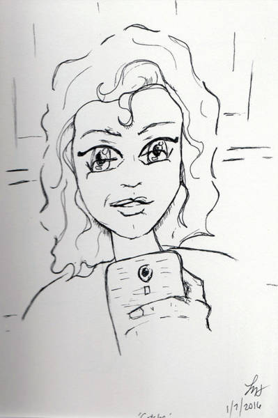 Drawing - Gotcha by Loretta Nash
