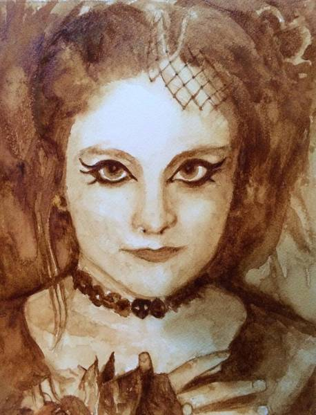 Wall Art - Painting - Goth Lady by Chrissey Dittus