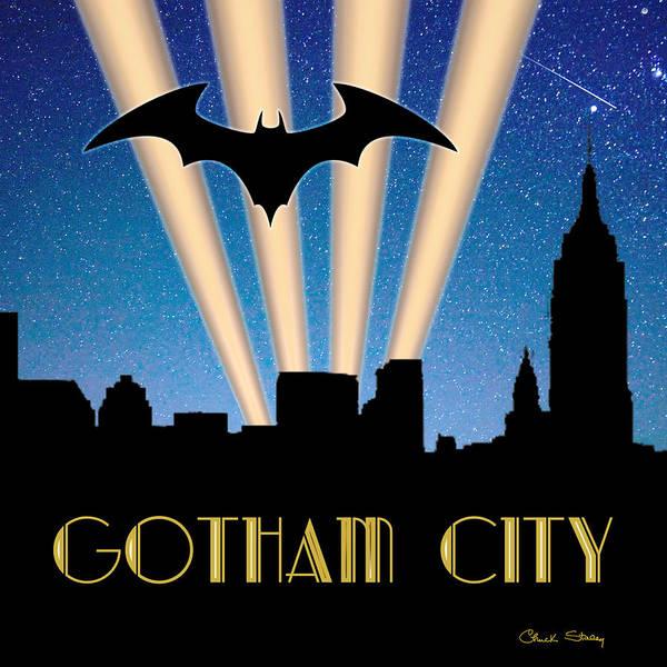 Digital Art - Gotham City by Chuck Staley