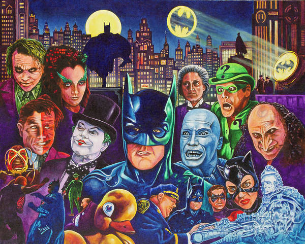 Jim Carrey Painting - Gotham City by Michael Frank